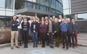 Glade prosjektpartnere under oppstartsmøtet i Stavanger, april 2018.